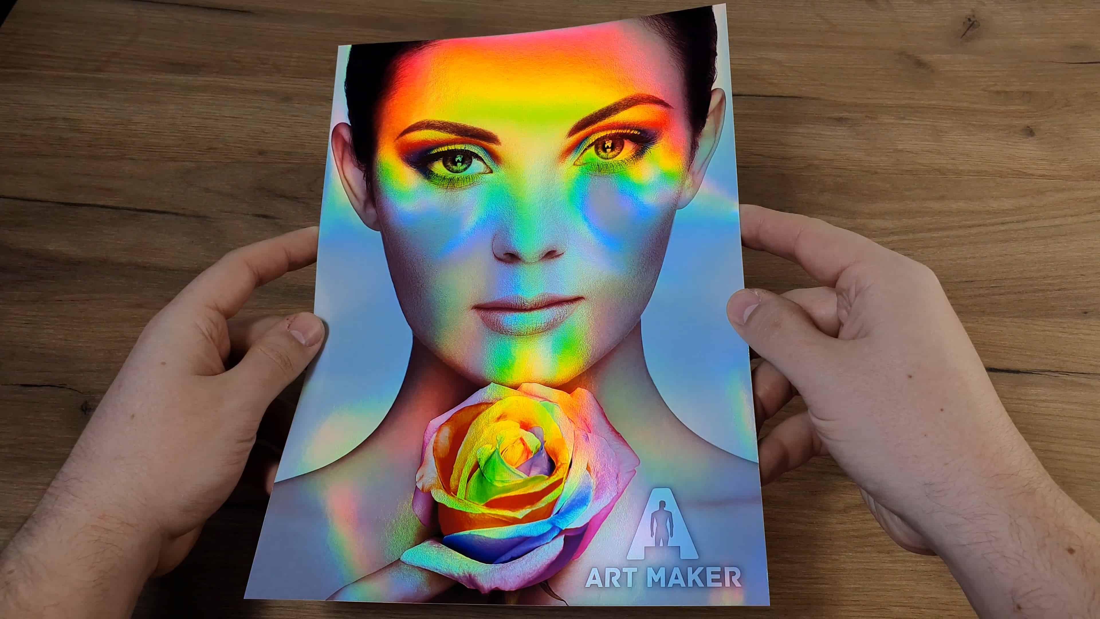 Hartie Foto Metalica Rainbow
