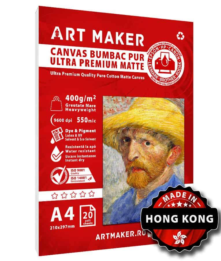 Canvas Bumbac Mat A4