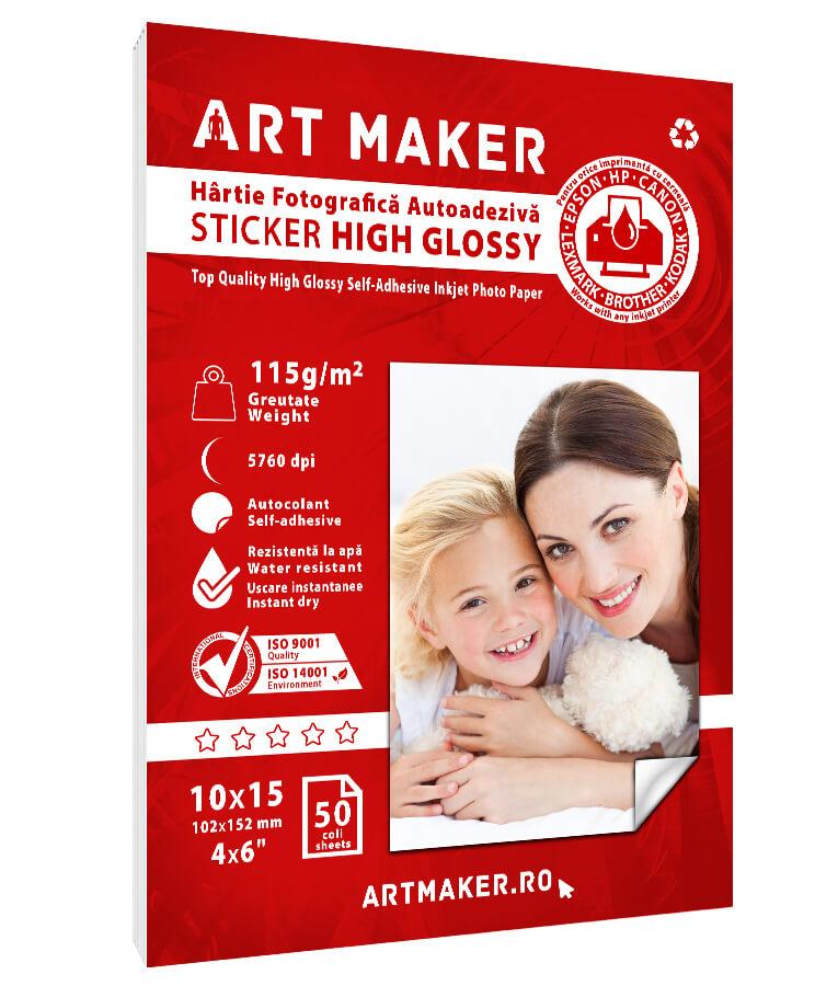 Hartie Foto Autoadeziva Sticker Glossy 10x15