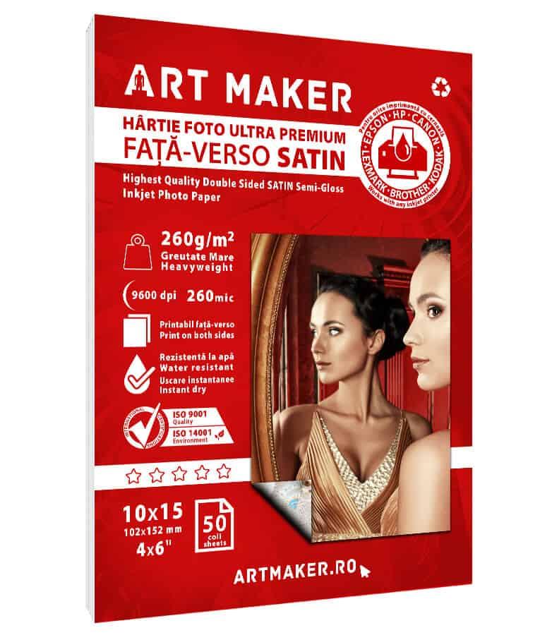 Hartie Foto Fata-Verso Satin 10x15