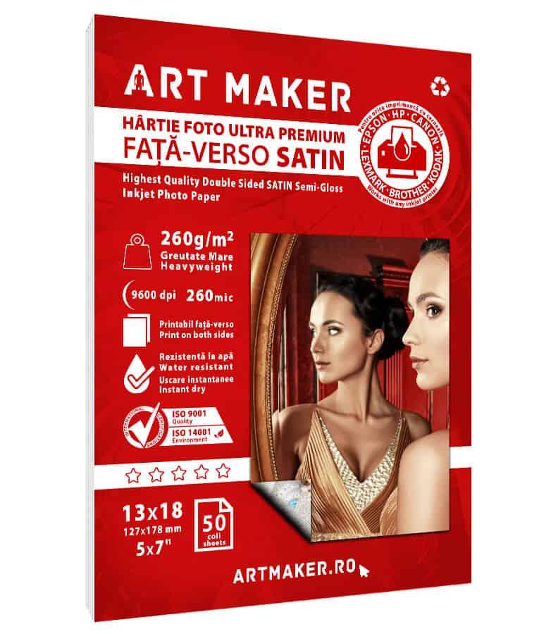 Hartie Foto Fata-Verso Satin 13x18