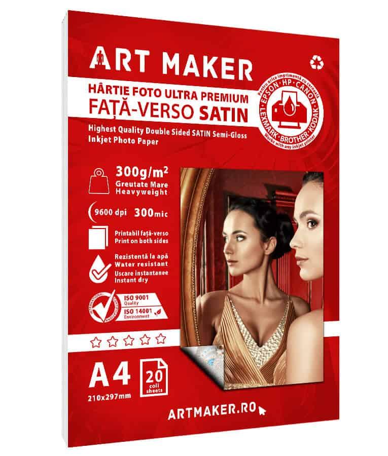 Hartie Foto Fata-Verso Satin A4