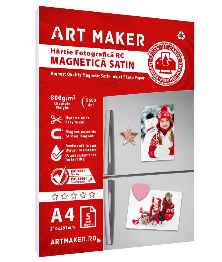 Hartie Foto Magnetica Satin A4