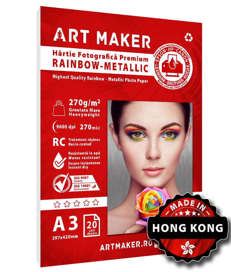 Hartie Foto Metalica Rainbow A3