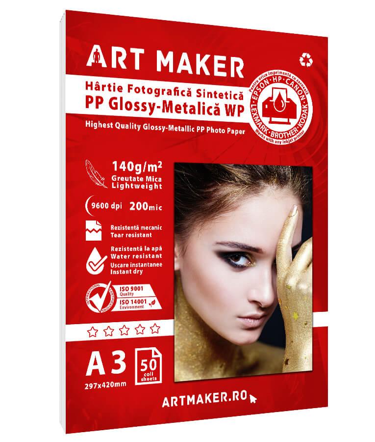 Hartie Sintetica PP Polipropilena Glossy A3